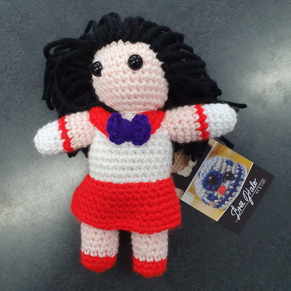 Sailor Moon - Sailor Mars Crocheted Plush Figure