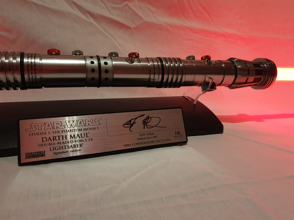 Master Replicas Signature Edition Darth Maul 2006 Force FX Lightsaber (SW-214S) Signed by Ray Park. (limited 500 pcs)