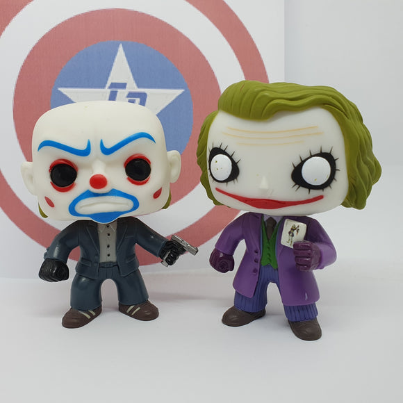 Dark Knight - Bank Robber Joker & Joker GITD Gemini Collectables Out of Box Pop! Vinyl 2 Pack
