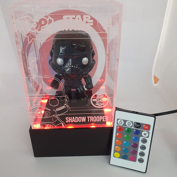 Star Wars - Shadow Trooper (CUSTOM) with LED lightup SDCC 2011 engraved Perspex Light Pop Box