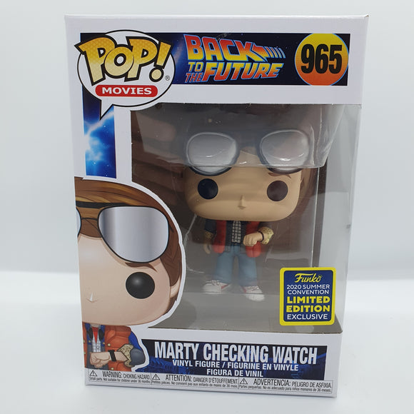 BTTF - Marty Checking Watch SDCC 2020 Excl Pop! Vinyl Figure