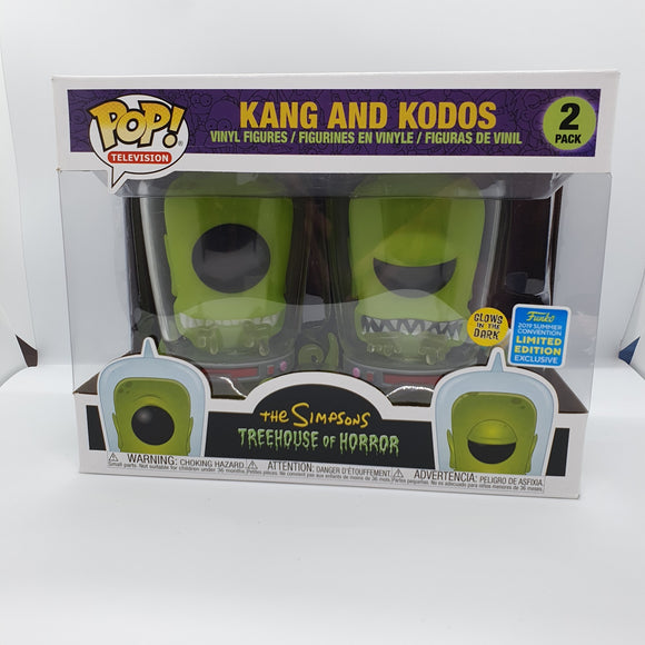Simpsons - Kang & Kados GITD SDCC 2019 Excl Pop! Vinyl Figure