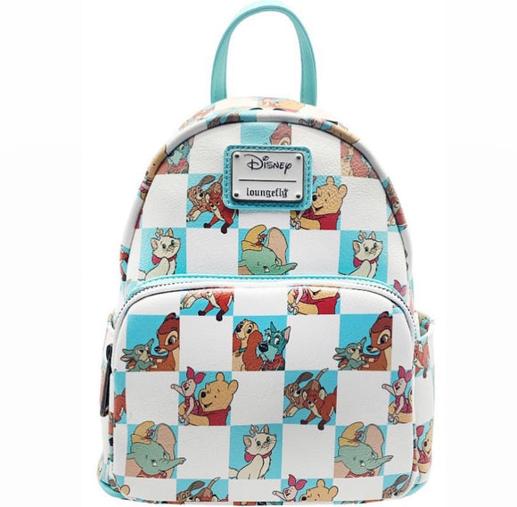 Disney - Loungefly Mint Checker Mini Backpack