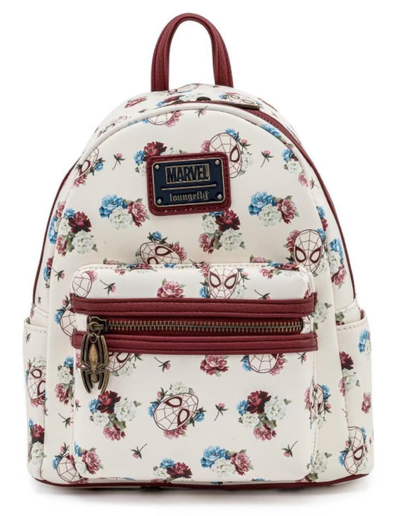SpiderMan - Floral Loungefly Mini Backpack