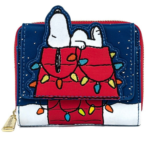 Peanuts - Holiday Snoopy House Flap Loungefly Purse
