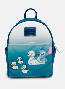 Disney - BoxLunch Exclusive Loungefly Lilo & Stitch Water Ducklings Mini Backpack