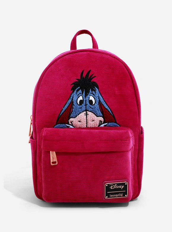 Disney - BoxLunch Exclusive Loungefly Winnie the Pooh Eeyore Corduroy Mini Backpack