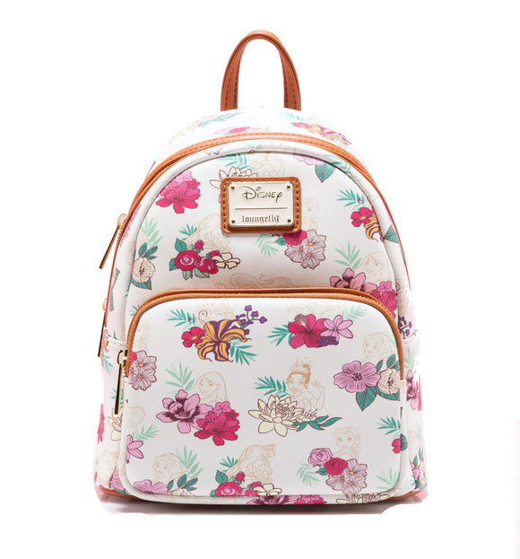 Disney - Loungefly Princesses Floral Mini Backpack