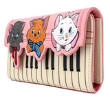 Aristocats - Piano Kitties Loungefly Trifold Purse