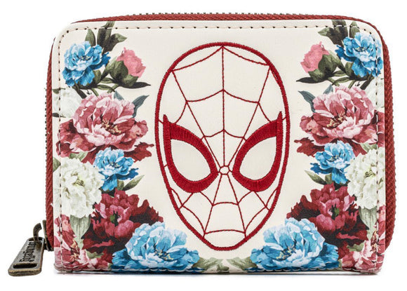 SpiderMan - Floral Loungefly Zip Purse