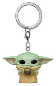 Star Wars: The Mandalorian - The Child with Cup Pocket Pop! Keychain