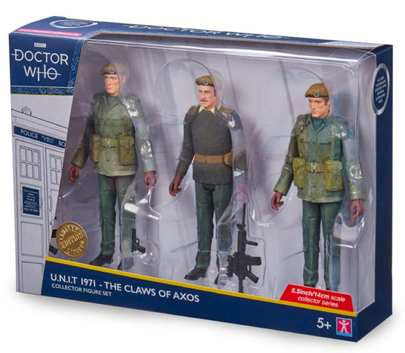 Doctor Who - UNIT 1971 Action Figures 3-pack (The Claws of Axos)