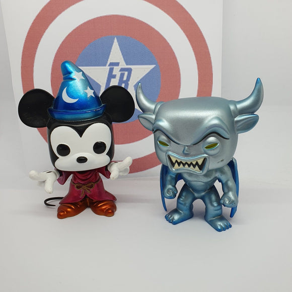 Disney - Sorcerer Mickey & Chernabog SDCC 2012 Metallic Out of Box Pop! Vinyl