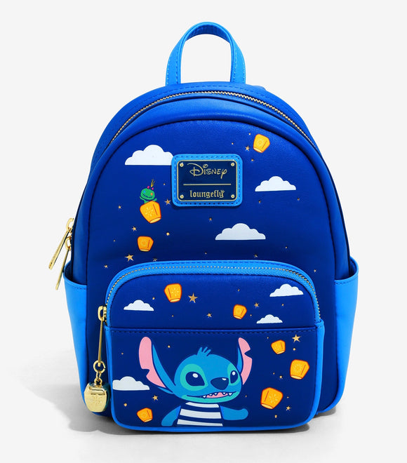 Disney - BoxLunch Exclusive Loungefly Lilo & Stitch Lanterns Mini Backpack