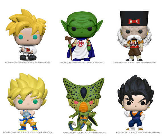Dragon Ball Z - Standard Variant Pop! Vinyl Set (6 Pops)