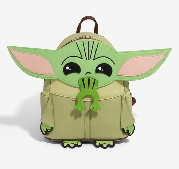 The Mandalorian - BoxLunch Exclusive Loungefly The Child Frog Figural Mini Backpack