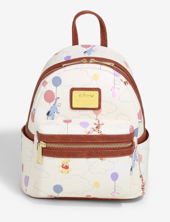 Disney - BoxLunch Exclusive Loungefly Winnie the Pooh Balloons Mini Backpack