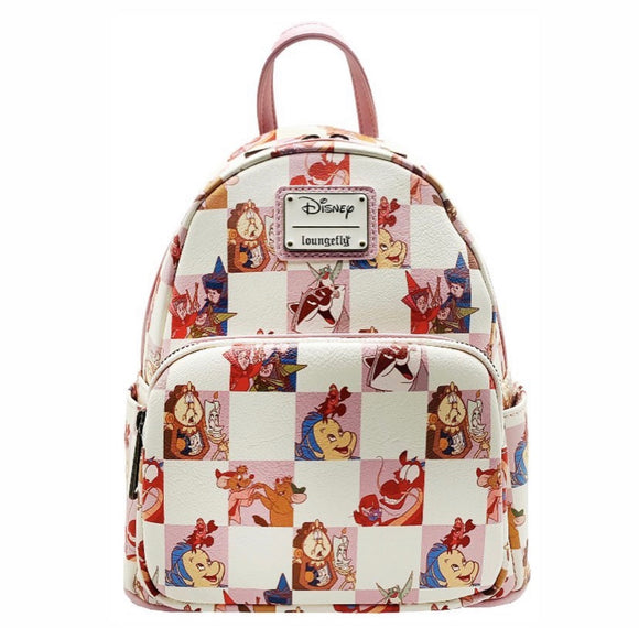 Disney - Loungefly Rose Checker Mini Backpack