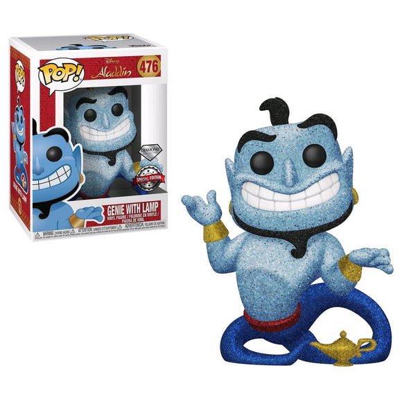 Aladdin - Genie with Lamp Diamond Glitter US Exclusive Pop! Vinyl [RS]