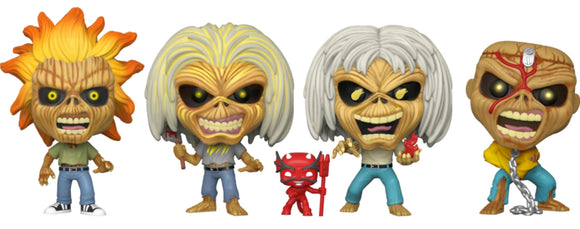 Iron Maiden - Eddie Glow US Exclusive Pop! Vinyl 4-pack [RS]