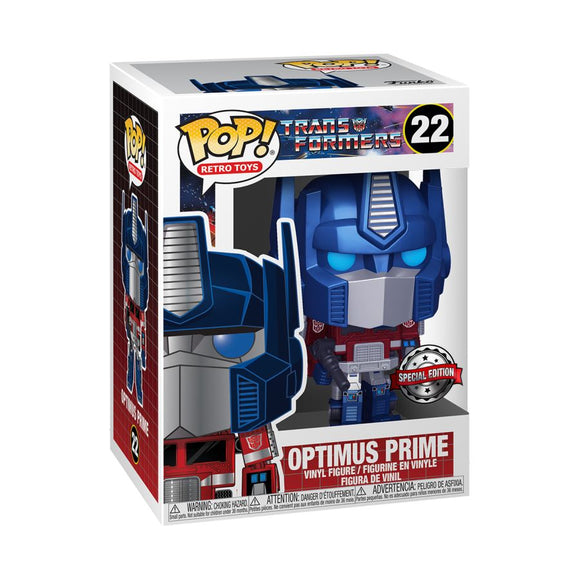 Transformers - Optimus Prime Metallic US Exclusive Pop! Vinyl [RS]