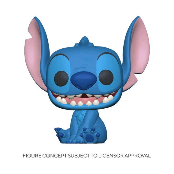 Lilo and Stitch - Stitch Seated Flocked US Exclusive Pop! Vinyl [RS]