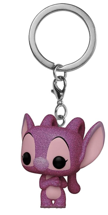Lilo & Stitch - Angel Diamond Glitter US Exclusive Pocket Pop! Keychain [RS]