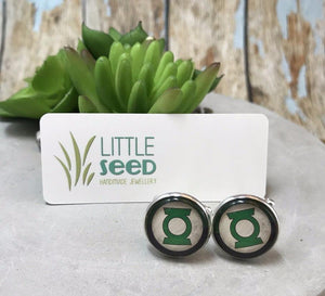 Little Seed Glass Tile The Green Lantern Cuff Links