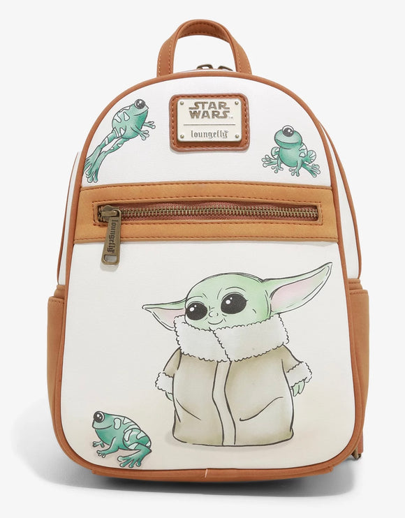 The Mandalorian - BoxLunch Exclusive Loungefly The Child with Frogs Mini Backpack