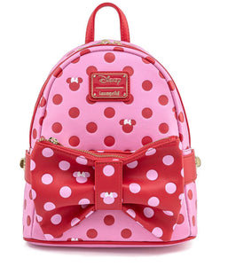 Mickey Mouse - Minnie Pink Bow Loungefly Mini Backpack