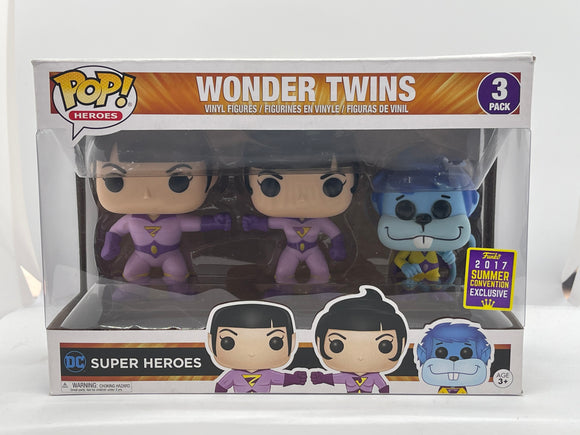 DC Super Heroes - Wonder Twins: Zan, Jayna and Gleek 3-Pack SDCC 2017 Exclusive Pop! Vinyl