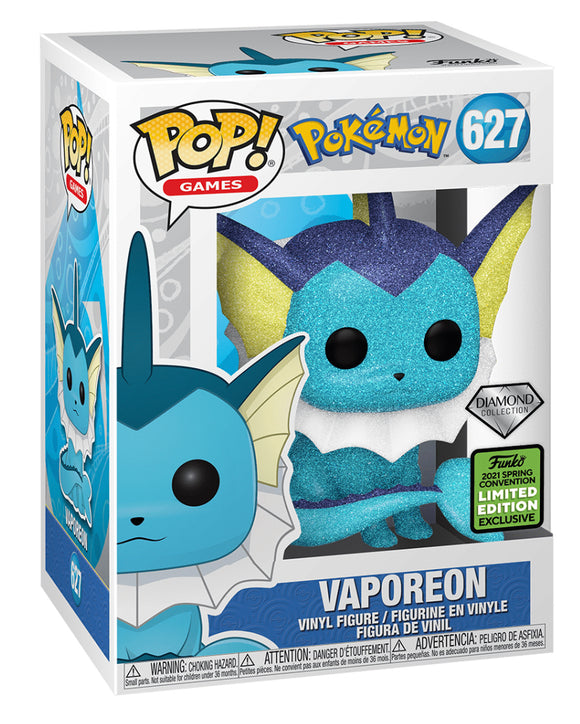 Pokemon - Vaporeon Diamond Glitter ECCC 2021 Excl Pop Vinyl