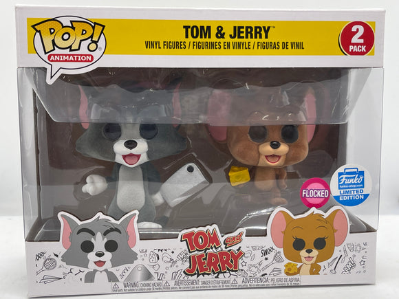 Tom & Jerry - Tom & Jerry (Flocked) 2 Pack Funko Shop Exclusive Pop! Vinyl