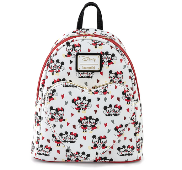 Mickey Mouse - Mickey & Minnie Heart Loungefly Mini Backpack
