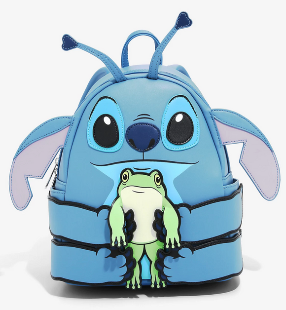Disney - BoxLunch Exclusive Loungefly Lilo & Stitch Frog Figural Mini Backpack