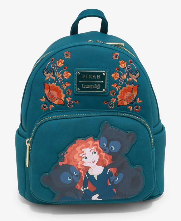 Pixar - BoxLunch Exclusive Loungefly Brave Triplets Mini Backpack