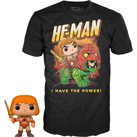 Masters of the Universe - He-Man Glow in the Dark Pop Vinyl & T-shirt Box Set
