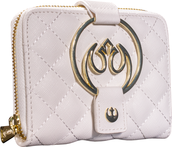 Star Wars - Rebel White Gold Loungefly Hardware Zip Purse
