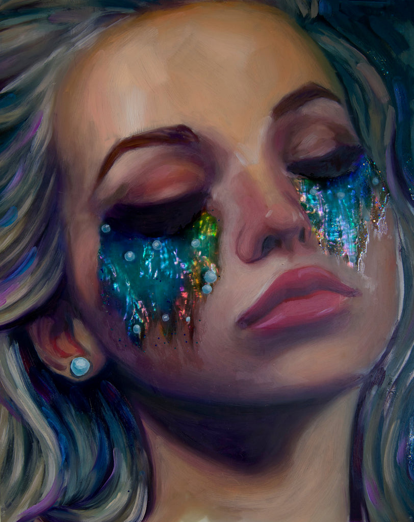 """Treasured Tears"" <br/> Original Painting <br/> In Private Collection at Los Angeles, California"