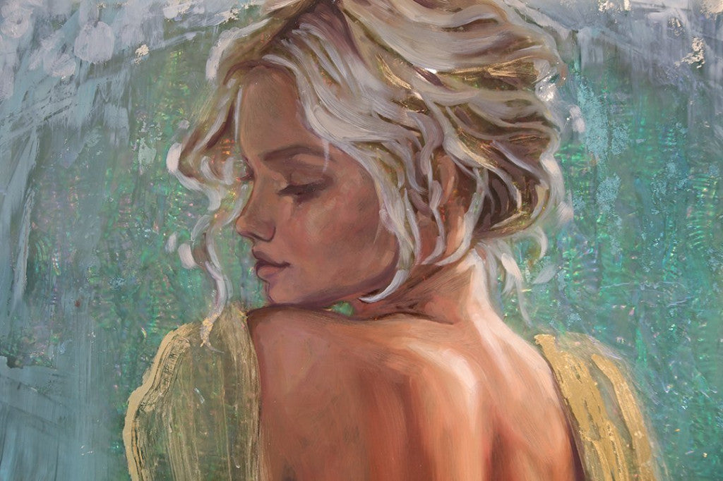 """Golden Gaze"" <br/> Original Painting <br/> in Private Collection <br/> at Vancouver, Canada"