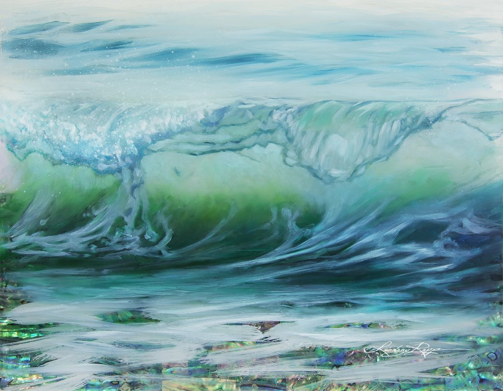 """Rising Tide"" <br/> Original Painting <br/> in Private Collection <br/> at Orange, California"