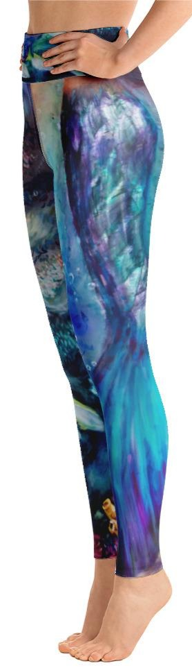 """Moonlit Siren Tail"" Yoga Leggings"