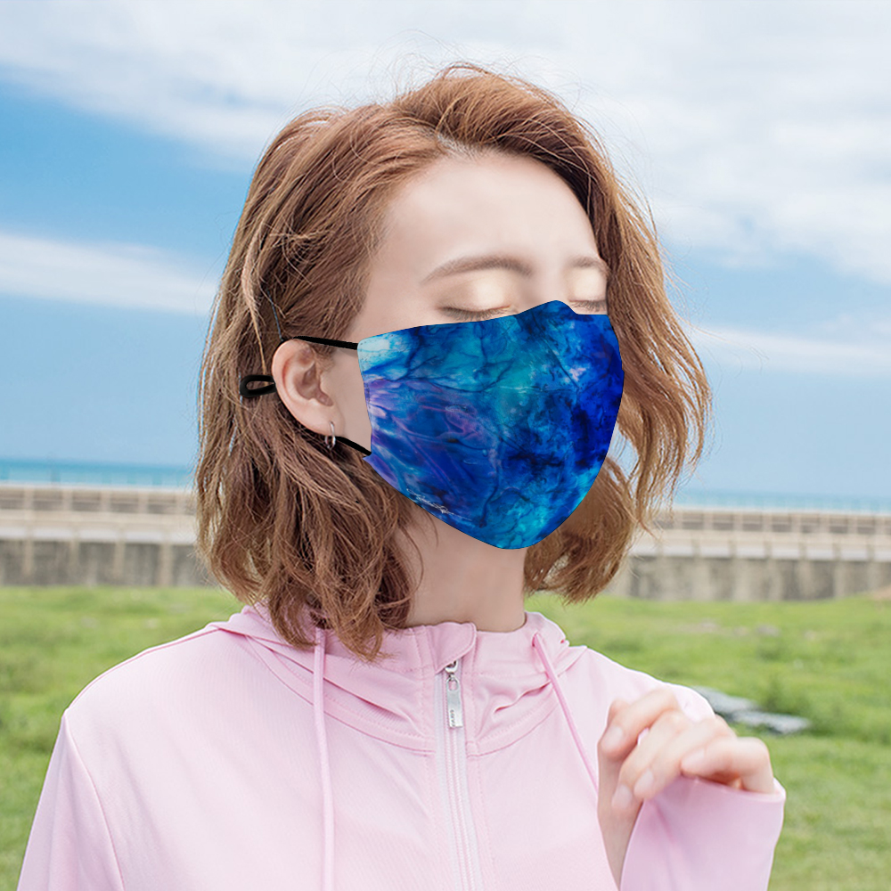 """Ocean Floor"" Face Mask with Filter"