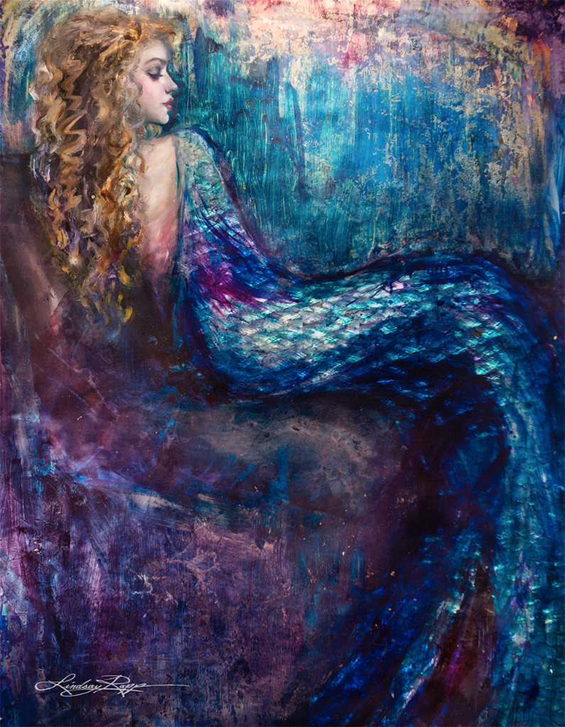 """Elizabethan Mermaid"" <br/> Original Painting <br/> in Private Collection <br/> at New York City, New York"