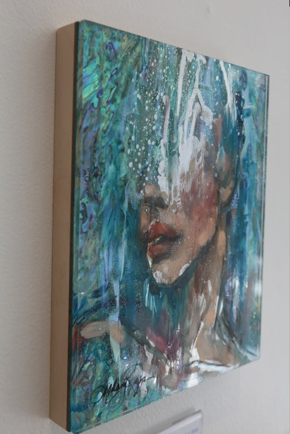 """Cascading Thoughts"" <br/> Original Painting <br/> in Private Collection <br/> at Aliso Viejo, California"