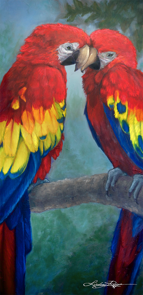 """Love Birds"" <br/> Painting"