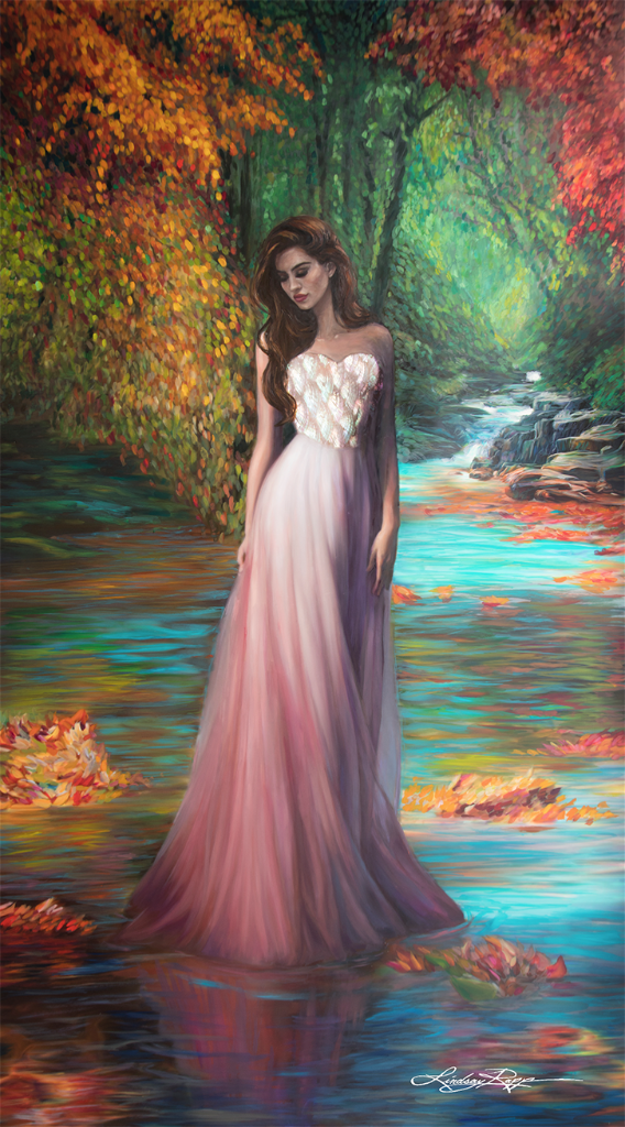 """Naiad"" <br/> Original Painting <br/> in Private Collection <br/> at Philadelphia, Pennsylvania"