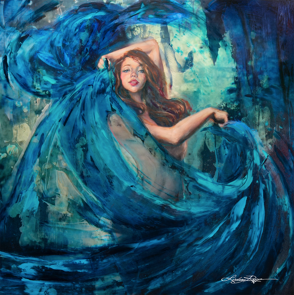 """River Dancer"" <br/> Original Painting <br/> in Private Collection <br/> at Oxnard, California"