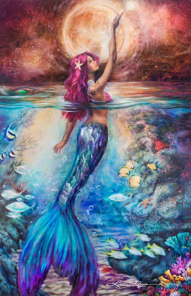 """Moonlit Siren"" Prints"