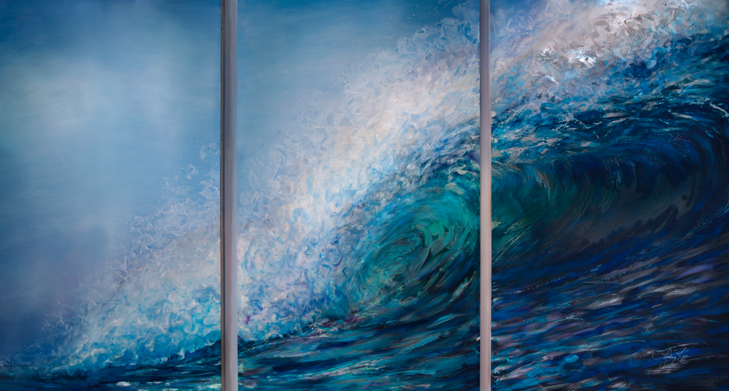 """TriWave"" Triptych <br/> Paint Texture Print Only"
